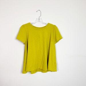 Anthropologie   mustard yellow knit t-shirt large